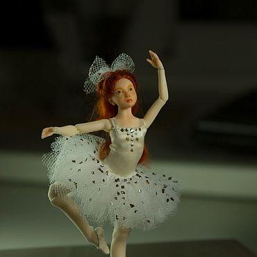 Куклы и игрушки ручной работы. Ярмарка Мастеров - ручная работа Лили. шарнирная кукла 1/12. Handmade.