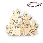 Куклы и игрушки handmade. Livemaster - original item Balancers. Educational toys. Snowmen. The Magnificent Seven.. Handmade.