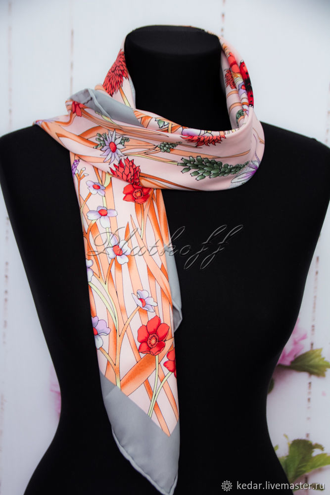 8e900638 Silk scarves from Gucci fabric