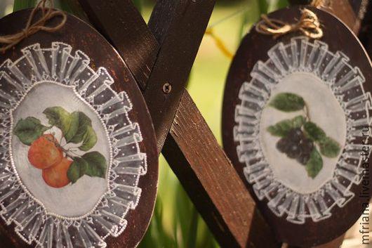 """Натюрморт ручной работы. Ярмарка Мастеров - ручная работа. Купить Панно """"Фрукты"""". Handmade. Комбинированный, панно кантри, краски акриловые"""