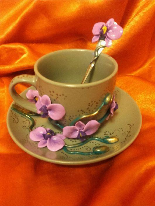 Сервизы, чайные пары ручной работы. Ярмарка Мастеров - ручная работа. Купить Набор посуды с декором. Handmade. Чайный набор