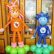 Подарки к праздникам ручной работы. Ярмарка Мастеров - ручная работа Фиксики из воздушных шаров.. Handmade.