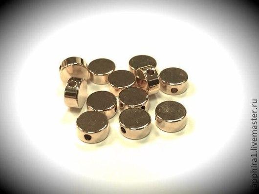 Для украшений ручной работы. Ярмарка Мастеров - ручная работа. Купить Бусина 5 мм позолоченная mini. Handmade. Золотой