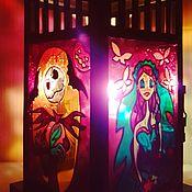 Для дома и интерьера ручной работы. Ярмарка Мастеров - ручная работа Подсвечник фонарь Хэллоуин по мотивам фильмов Тима Бертона. Handmade.