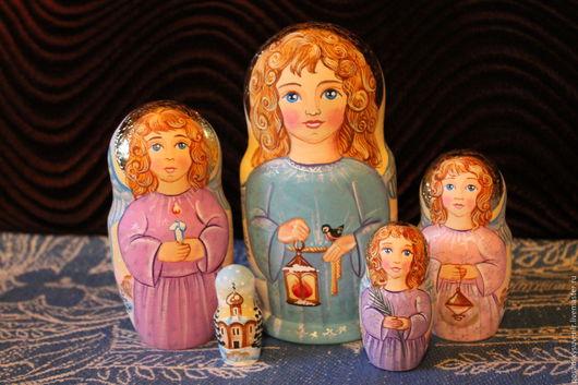 Матрешки ручной работы. Ярмарка Мастеров - ручная работа. Купить Ангелы. Handmade. Ангел-хранитель, матрешка расписная, сувенир