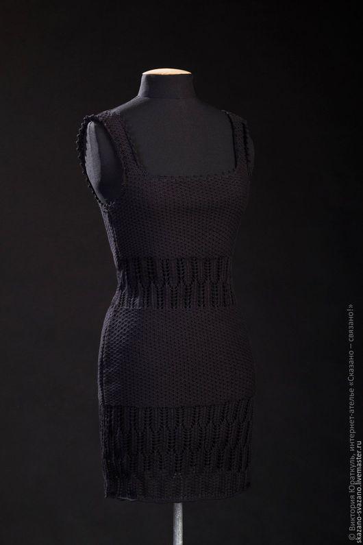 Платья ручной работы. Ярмарка Мастеров - ручная работа. Купить Платье женское. Handmade. Черный, ажурные платья, оригинальные платья
