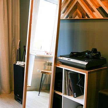 Для дома и интерьера ручной работы. Ярмарка Мастеров - ручная работа Зеркало большое в рост напольное в деревянной раме массив дерева. Handmade.