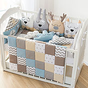 Работы для детей, handmade. Livemaster - original item Bumpers in the crib. Handmade.