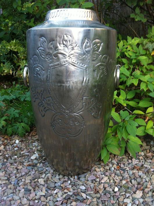 Винтажные предметы интерьера. Ярмарка Мастеров - ручная работа. Купить Напольная металлическая ваза с гравировкой ручной работы, Голландия. Handmade.