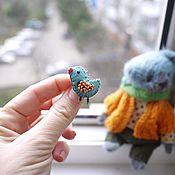 Куклы и игрушки ручной работы. Ярмарка Мастеров - ручная работа Мишка из пыльно-голубого мохера. Handmade.