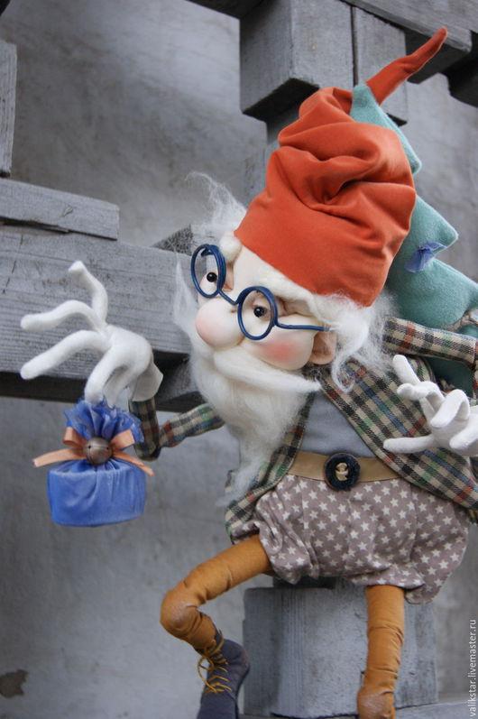 Коллекционные куклы ручной работы. Ярмарка Мастеров - ручная работа. Купить Подарочек. Handmade. Дедушка мороз, новогодний праздник, рождество