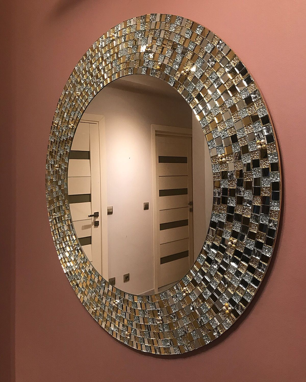 Круглое зеркало в золотой раме, Зеркала, Санкт-Петербург,  Фото №1