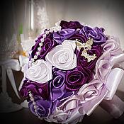 Свадебный салон ручной работы. Ярмарка Мастеров - ручная работа Сиреневый букет для невесты, букет-дублер, букет с бабочками. Handmade.