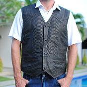 Одежда handmade. Livemaster - original item Python skin vest from Exotiq Python. Handmade.