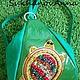 """Женские сумки ручной работы. Ярмарка Мастеров - ручная работа. Купить Сумка-рюкзак """"Карамельная черепаха"""". Handmade. Ярко-зелёный"""