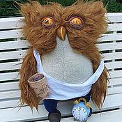 Куклы и игрушки ручной работы. Ярмарка Мастеров - ручная работа Подушка тяжелое утро...Сонная сова. Handmade.