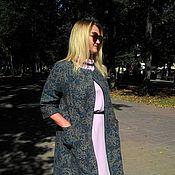 Одежда handmade. Livemaster - original item Coat woolen overcoat jacquard