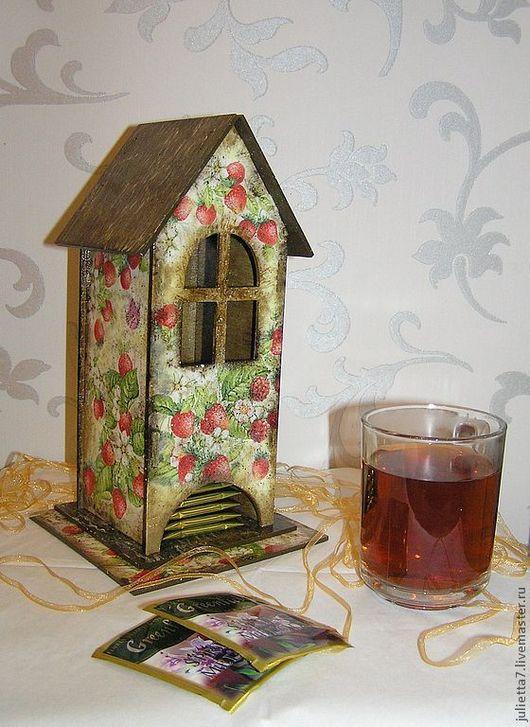"""Кухня ручной работы. Ярмарка Мастеров - ручная работа. Купить Чайный домик """"Земляничное настроение"""". Handmade. Чайный домик"""