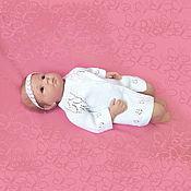 Работы для детей, handmade. Livemaster - original item sweater knitted for girls children`s cardigan white. Handmade.