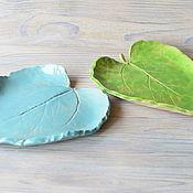 """Посуда ручной работы. Ярмарка Мастеров - ручная работа Декоративные тарелки """"Сказочные листья"""". Handmade."""
