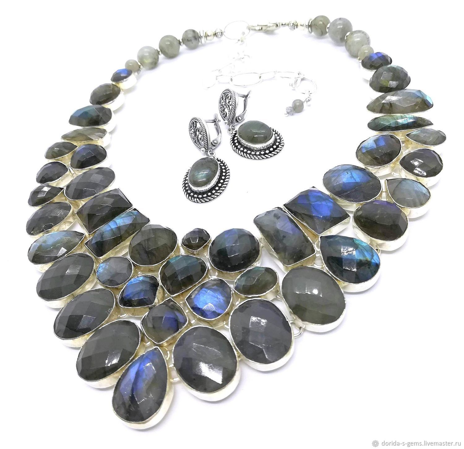 Necklace 'mysterious Twinkle of the stars' Earrings limit. Labradorite, Jewelry Sets, Taganrog,  Фото №1