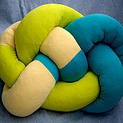 Для дома и интерьера ручной работы. Ярмарка Мастеров - ручная работа Подушка-сидушка узловая. Handmade.
