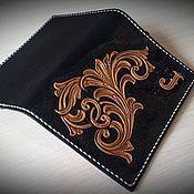 Cover handmade. Livemaster - original item Passport cover personalized leather passport cover, monogram. Handmade.