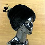 Аксессуары handmade. Livemaster - original item Fashionable women`s hat fur mink Finnish Art.IA-5. Handmade.
