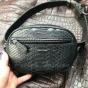 Сумки и аксессуары handmade. Livemaster - original item Waist bag made of Python ATLAS. Handmade.