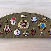 Аксессуары handmade. Livemaster - original item A souvenir soldier`s cap with badges of the SOVIET. Handmade.