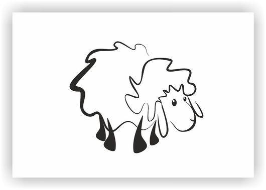 Визитки ручной работы. Ярмарка Мастеров - ручная работа. Купить Логотипы овечки. Handmade. Черный, разработка дизайна