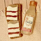 Косметика ручной работы. Ярмарка Мастеров - ручная работа Мыльный набор Бутерброд с салом и бутылочка водки. Handmade.