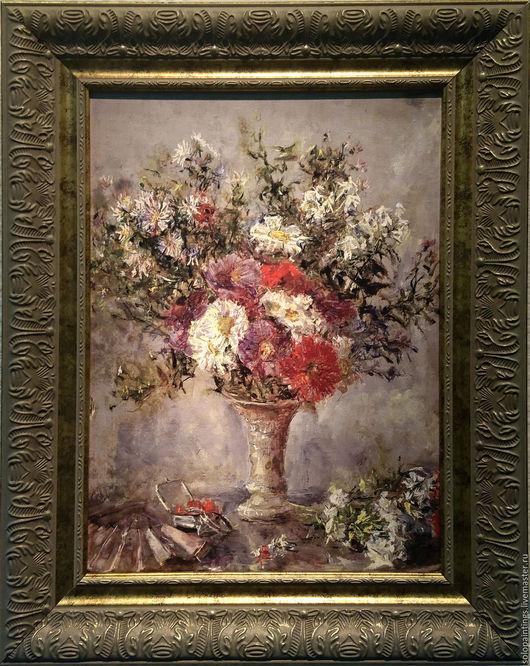 """Картины цветов ручной работы. Ярмарка Мастеров - ручная работа. Купить """"Букет цветов в вазе"""" Эдуардо Леон Гарридо. Handmade."""