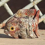 Оберег ручной работы. Ярмарка Мастеров - ручная работа Талисманы: Рыбки цветные из агальматолита.. Handmade.