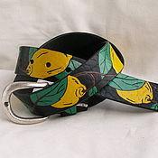 Аксессуары handmade. Livemaster - original item LEMONS strap leather. Handmade.