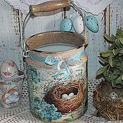 Для дома и интерьера ручной работы. Ярмарка Мастеров - ручная работа Бидон-ваза. Handmade.