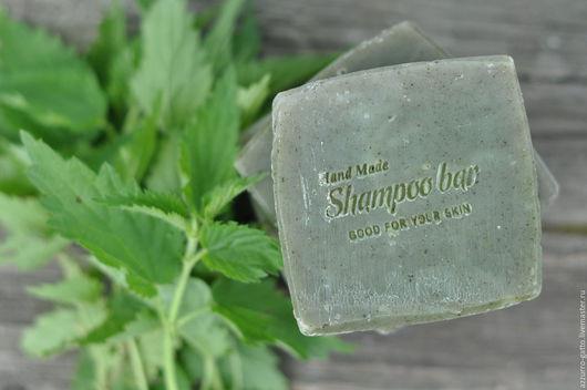 Мыло-шампунь ручной работы. Ярмарка Мастеров - ручная работа. Купить Крапивное шампуневое мыло, сваренное на 100% соке майской крапивы. Handmade.