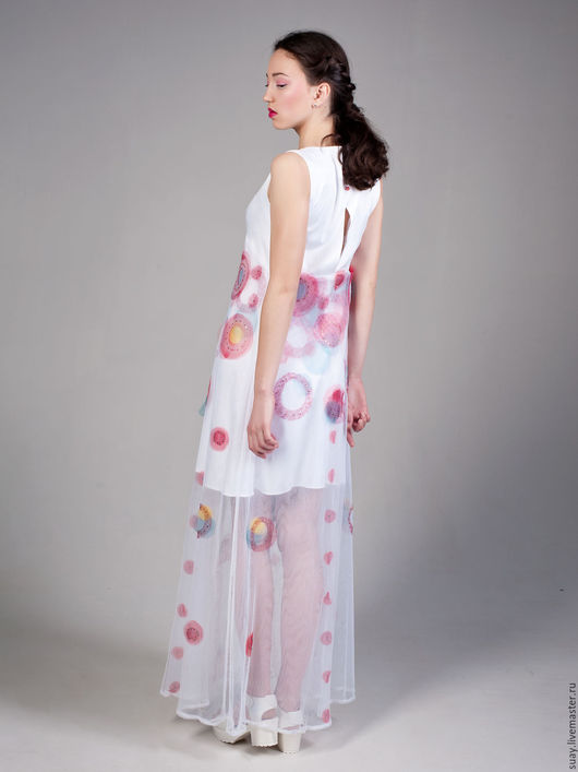 """Платья ручной работы. Ярмарка Мастеров - ручная работа. Купить Нарядное платье-макси """"Солнечная"""". Handmade. Белый, Платье нарядное"""