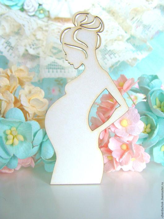 Открытки и скрапбукинг ручной работы. Ярмарка Мастеров - ручная работа. Купить Силуэт беременной 4,2 х 8,5 см. Handmade.