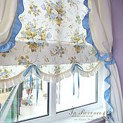 Для дома и интерьера handmade. Livemaster - original item The curtains in the nursery blue in the style of Shabby Chic with ruffles.. Handmade.