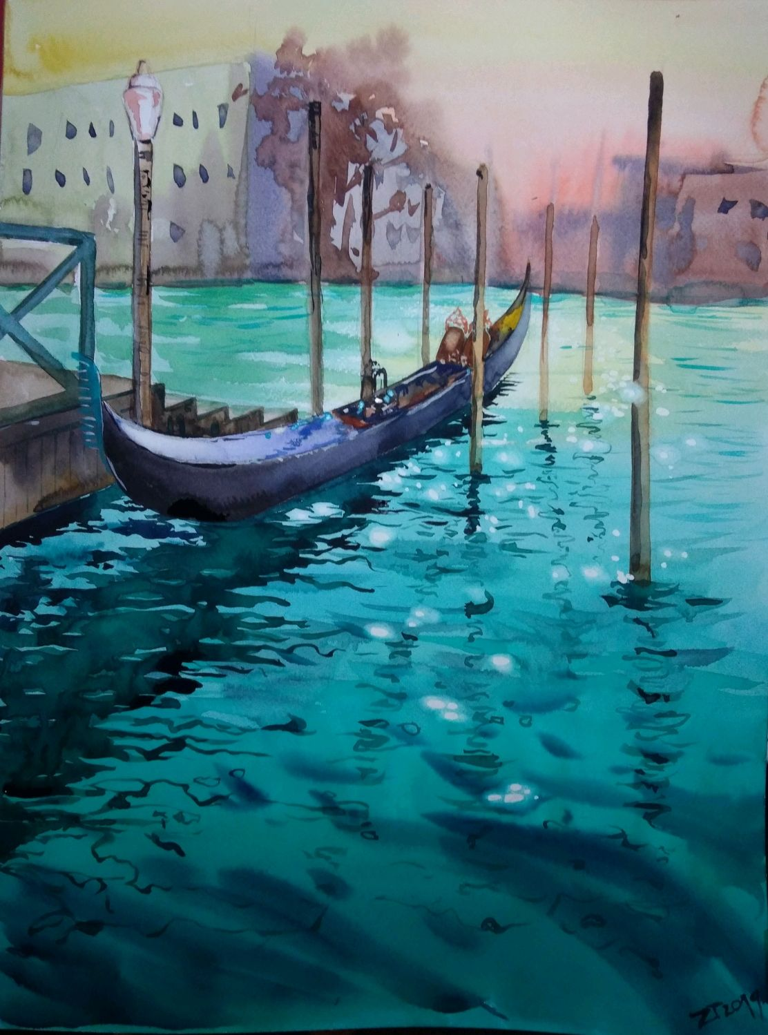 Picture: Sunny Venice. Watercolor, Pictures, Penza,  Фото №1