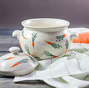 Для дома и интерьера handmade. Livemaster - original item A pot with carrots, ceramics, handmade. Handmade.