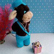Мягкие игрушки ручной работы. Ярмарка Мастеров - ручная работа Мягкие игрушки: Бычок. Handmade.
