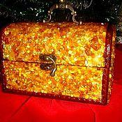 Для дома и интерьера handmade. Livemaster - original item The Magic box amber jewelry box, jewelry. Handmade.