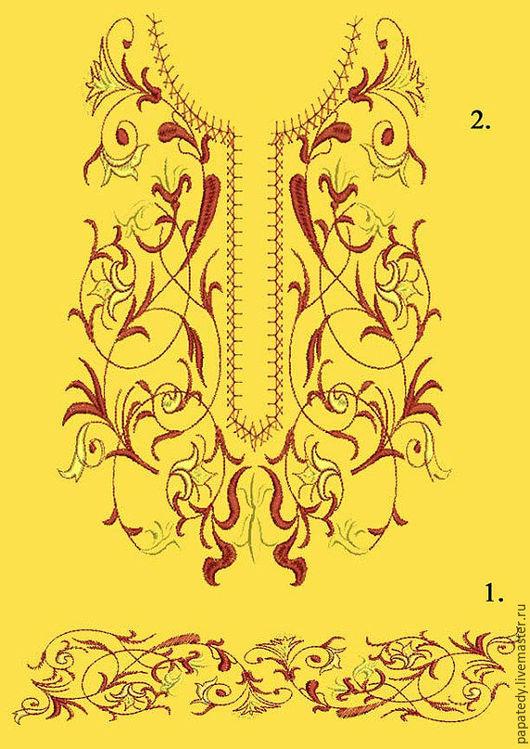 Вышивка ручной работы. Ярмарка Мастеров - ручная работа. Купить цветочный орнамент - набор дизайнов для машинной вышивки. Handmade.
