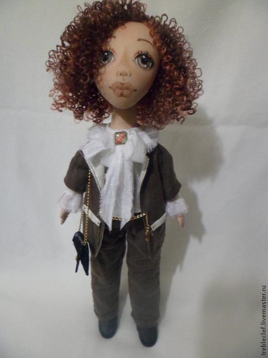 Коллекционные куклы ручной работы. Ярмарка Мастеров - ручная работа. Купить Кукла сшита на заказ.. Handmade. Коричневый, подарок девушке