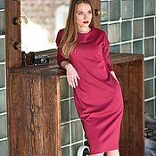 """Одежда ручной работы. Ярмарка Мастеров - ручная работа платье базовое трикотажное """"Дэйзи""""  фуксия. Handmade."""
