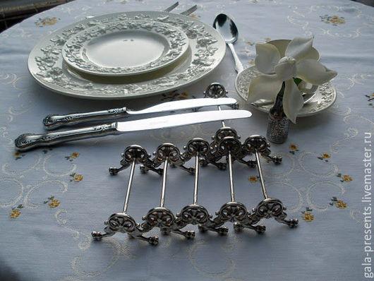 Винтажная посуда. Ярмарка Мастеров - ручная работа. Купить -10% Christofle. Антикварные подставки/ножи, до 1910 г. Франция. Handmade.