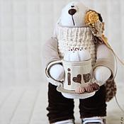 Куклы и игрушки ручной работы. Ярмарка Мастеров - ручная работа Зайцы. Заяц любитель капучино.. Handmade.