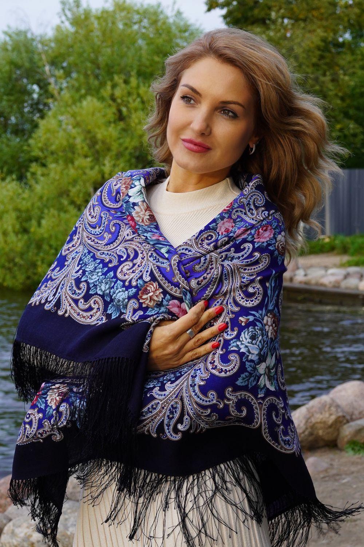 Павлово-Посадский шерстяной платок, Платки, Санкт-Петербург,  Фото №1
